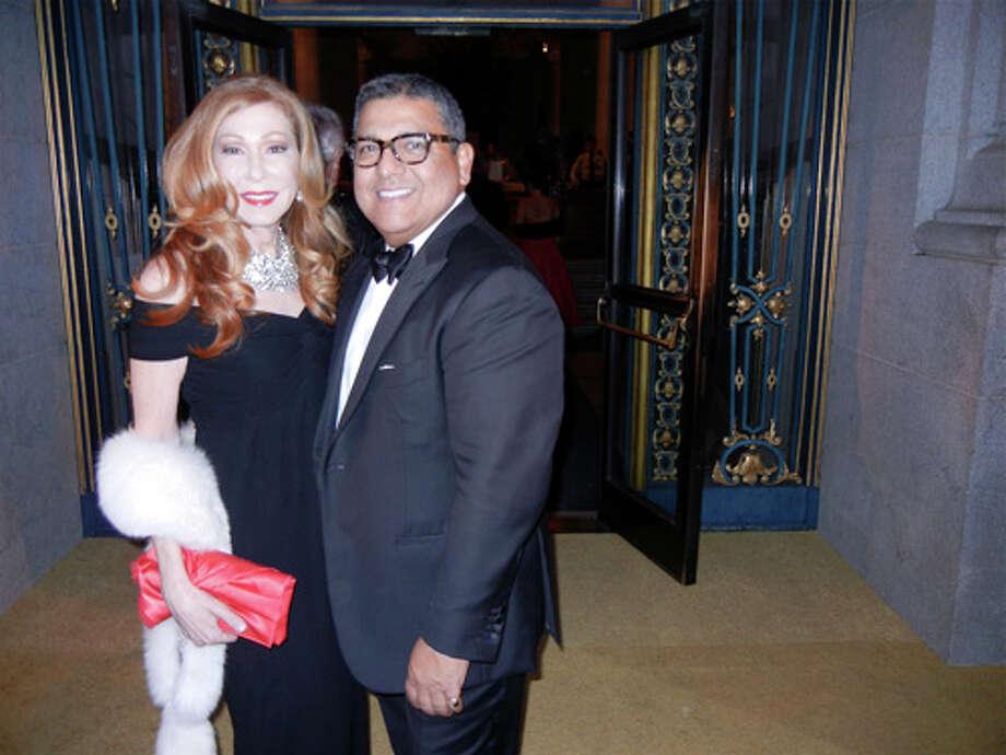 Teresa Medearis and gala designer Riccardo Benavides at City Hall Photo: Catherine Bigelow