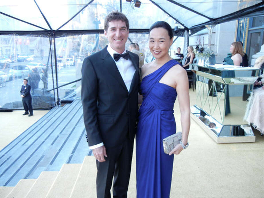 Patrick King and his wife, Dr. Carolyn Chang (in J. Mendel) Photo: Catherine Bigelow