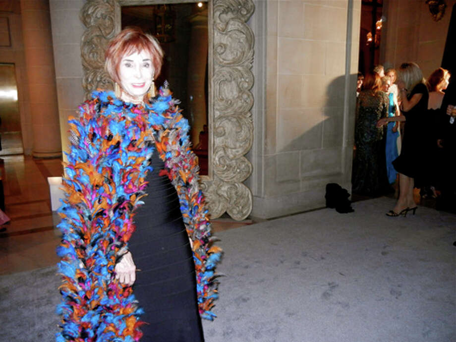 Norah Stone was definitely fine-feathered in her cape by British-based designer Duro Olowu Photo: Catherine Bigelow