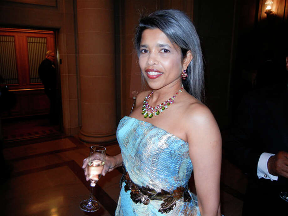 Deepa Pakianathan models baubles by Bulgari, one of the gala sponsors Photo: Catherine Bigelow