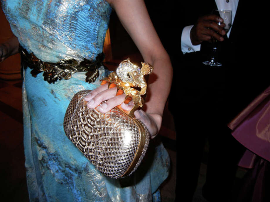 Deepa also digs eye-catching McQueen clutches Photo: Catherine Bigelow