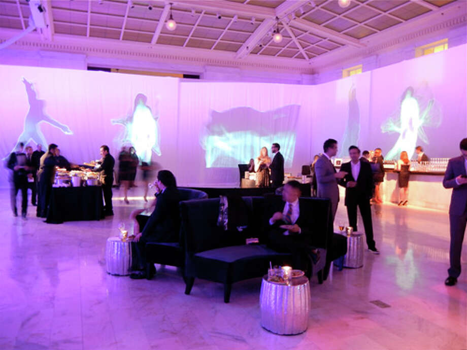 Immersive Projection Arts displayed a more modern dance style within Benavides' sleek minimalist decor for the post-party Photo: Catherine Bigelow