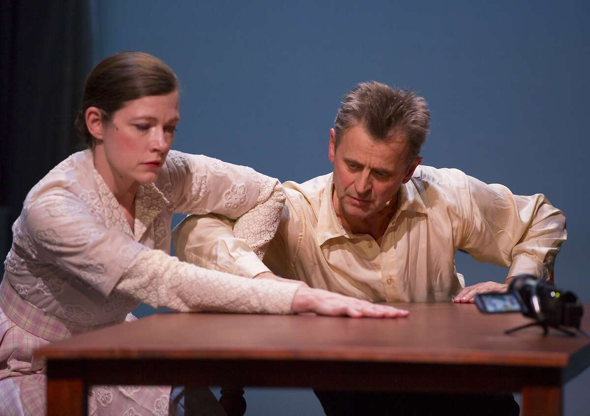 Mikhail Baryshnikov,left, as Belikov watches Barbara (Tymberly Canale) dance as her brother (Aaron Mattocks) looks on in the title story by Anton Chekhov in Big Dance Theater's