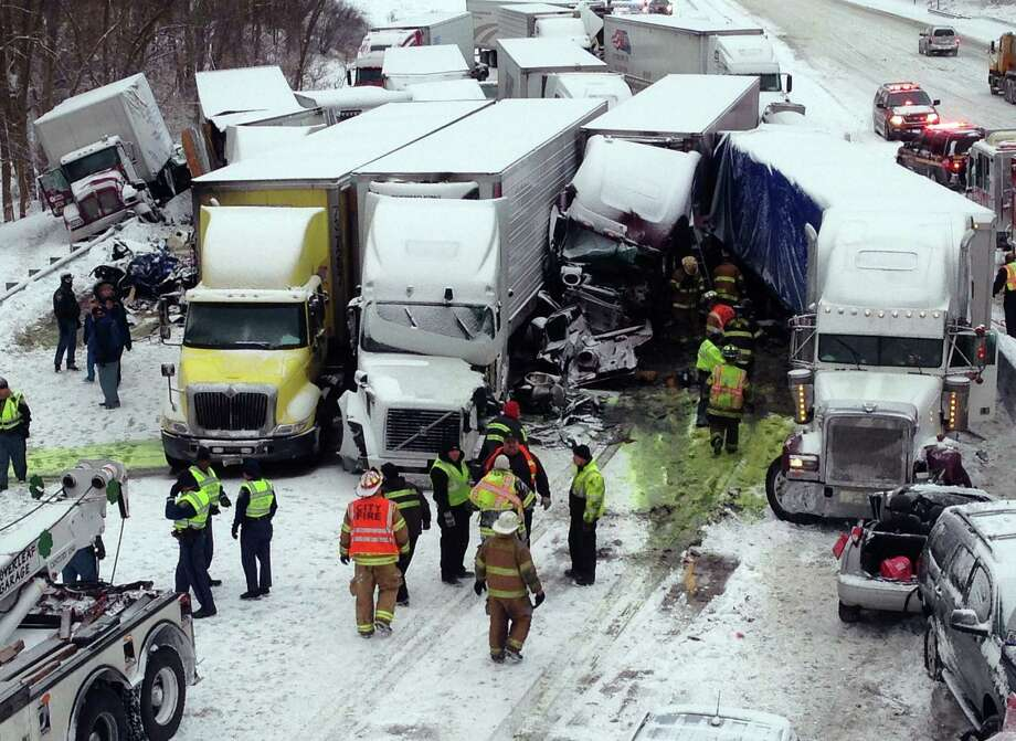 A Chicago man and a Michigan couple were killed in Thursday's pileup on Interstate 94 near Michigan City, Ind. Photo: Indiana State Police / Associated Press / Indiana State Police