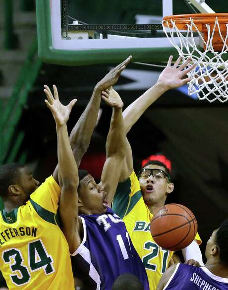 Baylor forward Cory Jefferson, left, and center Isaiah Austin, right, have not played up to their billing as preseason All-Big 12 selections Photo: LM Otero, STF / AP