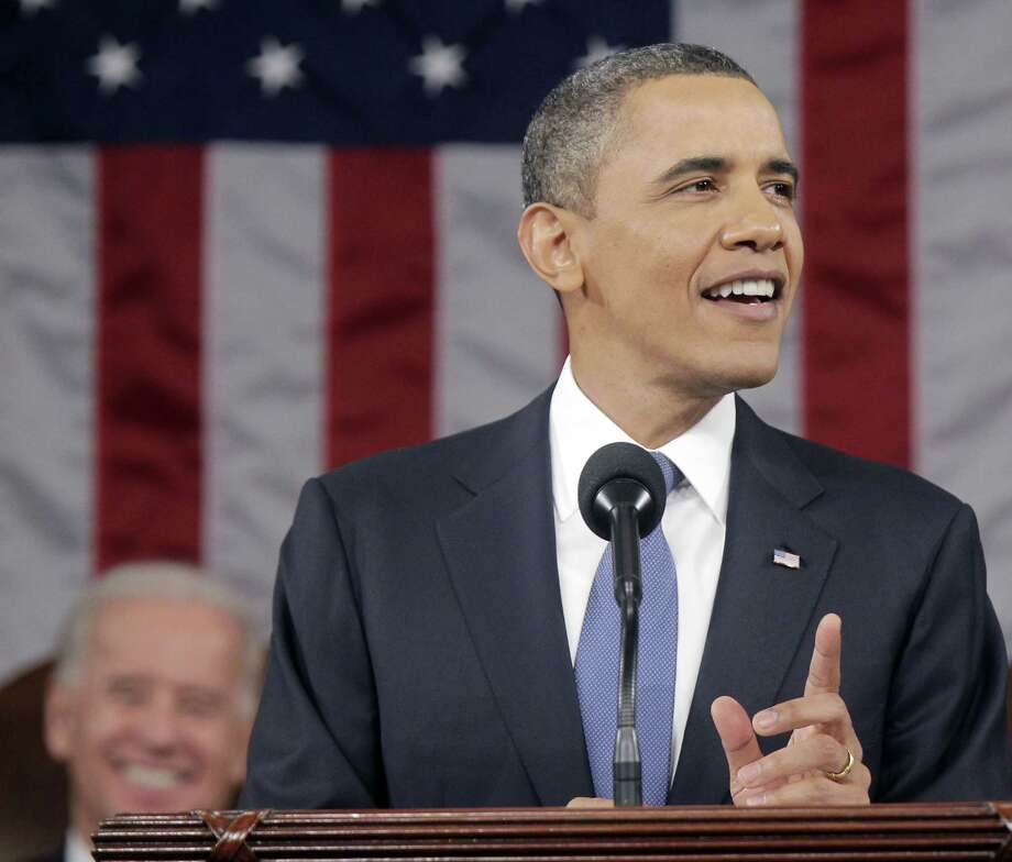 President Barack Obama elicits chuckles from the audience during his State of the Union address on Jan. 25, 2011. Photo: Pablo Martinez Monsivais / Associated Press / AP Pool