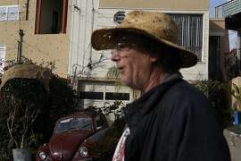 "William Kennedy, 57, walks the ""Little Hollywood"" neighborhood near Candlestick Park on January 24, 2014 in San Francisco, Calif.  Legend says that Mae West lived in the neighborhood prompting its nickname. Kennedy lives in the Mae West house and moved into the house in 1957."