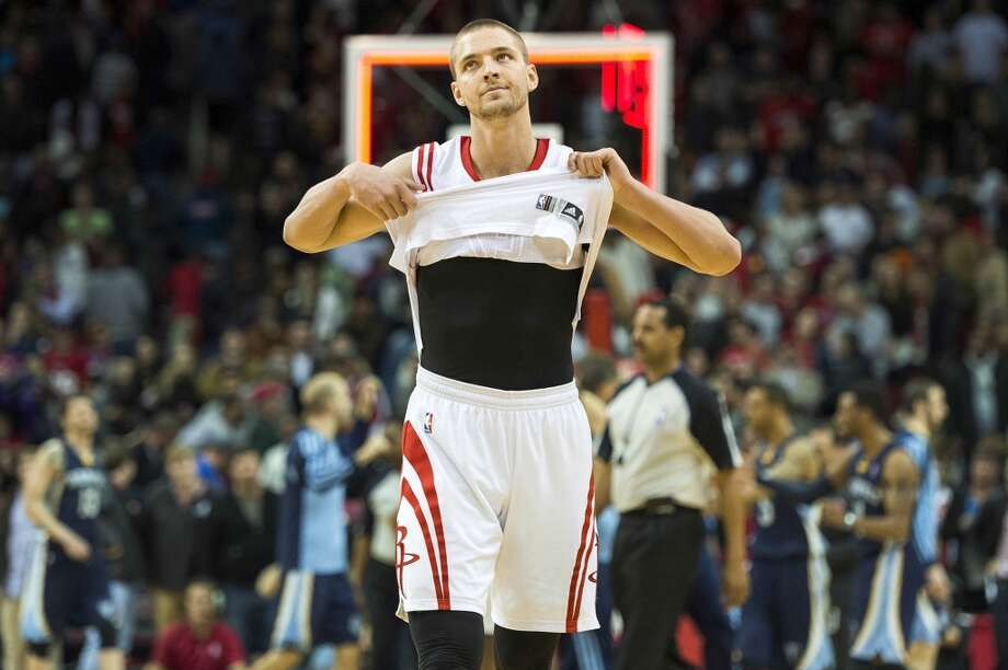 Jan. 24: Grizzlies 88, Rockets 87Rockets forward Chandler Parsons scored a career-high 34 points, broke the NBA record for 3-pointers in a half with 10 in the second, and the franchise record for 3s in a game, but the Grizzlies won 88-87. Photo: Smiley N. Pool, Houston Chronicle