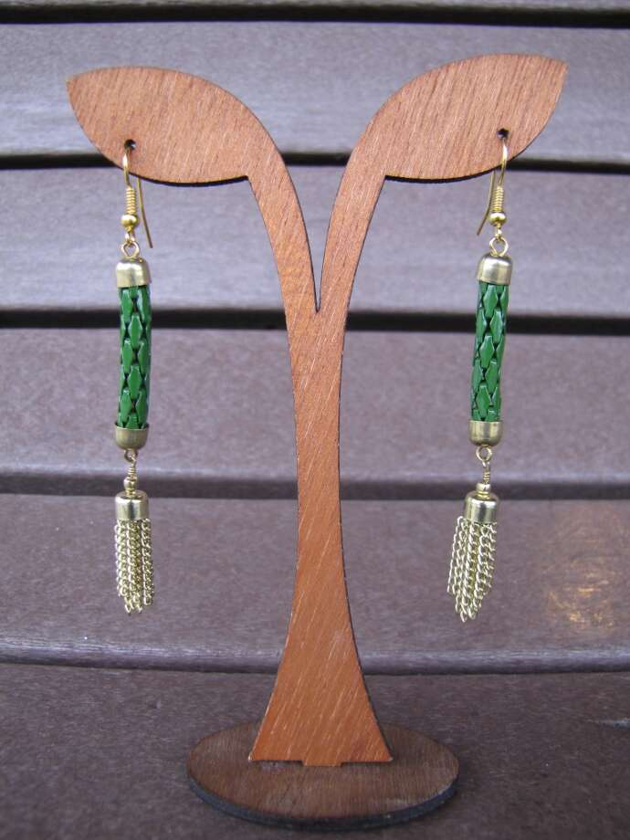 Tassel earrings, $14, Splash of Karma, Nederland Photo: Cat5