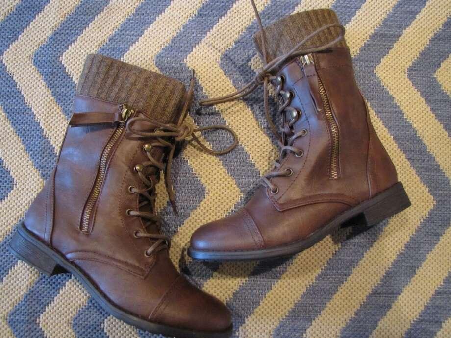 Lace-up boots, $48, Ella + Scott, Beaumont Photo: Cat5