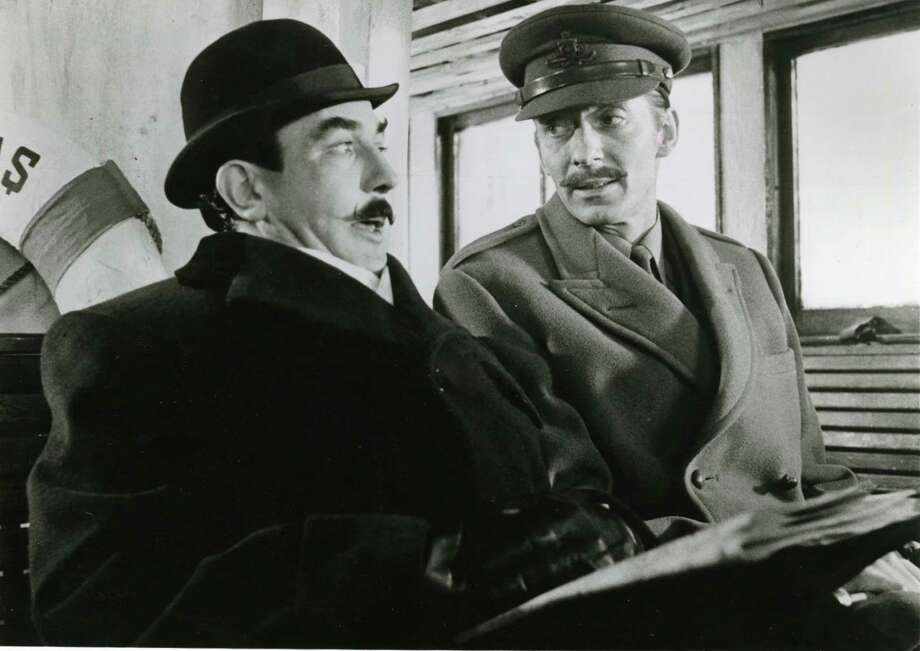 In this Agatha Christie's film, Hercule Poirot (played by Albert Finney, left) is called to investigate a murder that happened in his train car the night before. Dun dun DUN! Photo: Paramount Pictures / handout