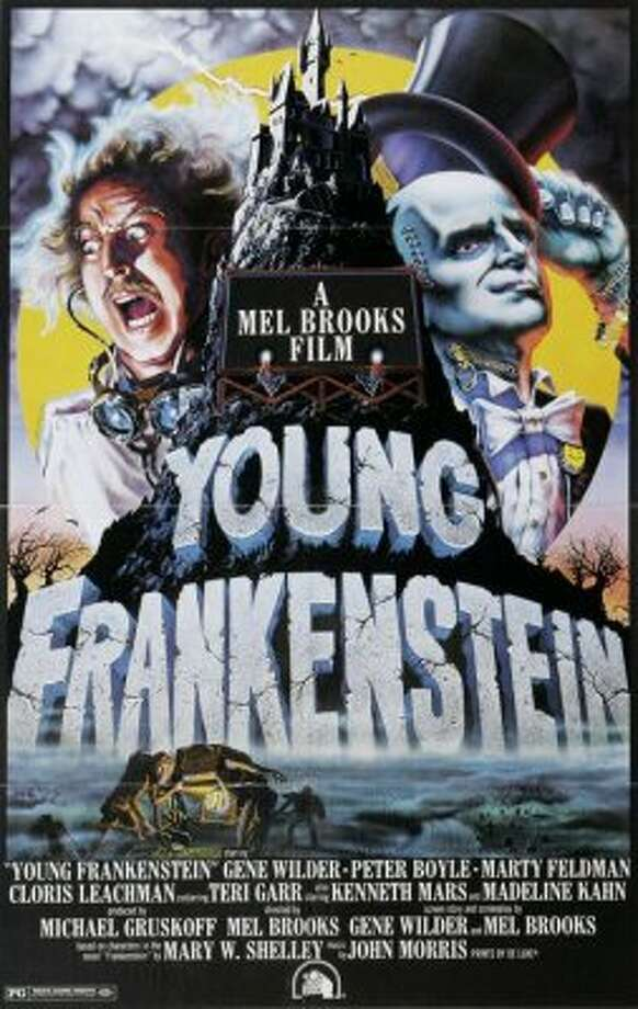 The movie poster from the 1974 film 'Young Frankenstein.'