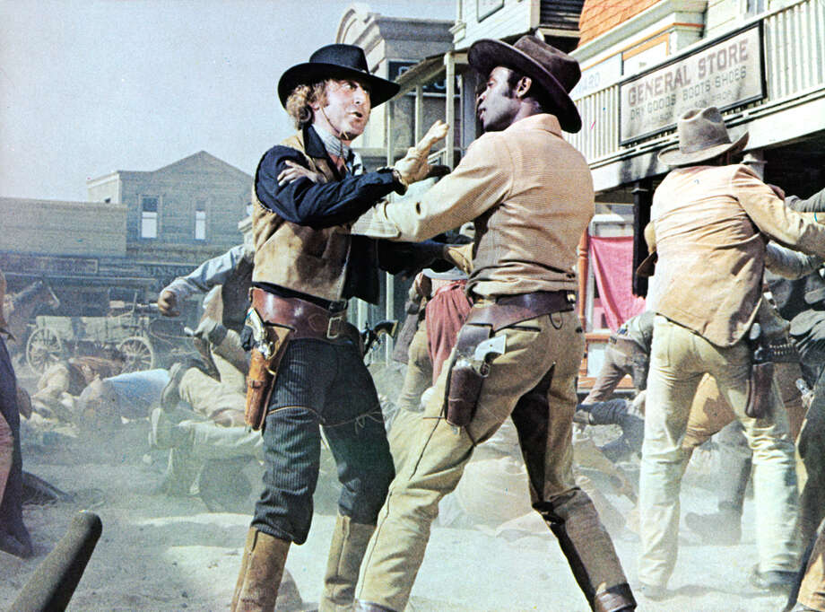 Gene Wilder gets into an altercation with Cleavon Little in a scene from the film 'Blazing Saddles.' This movie is about a corrupt politician who appoints a black sheriff, who in turn becomes his enemy. Photo: Archive Photos, Getty Images / 2012 Getty Images