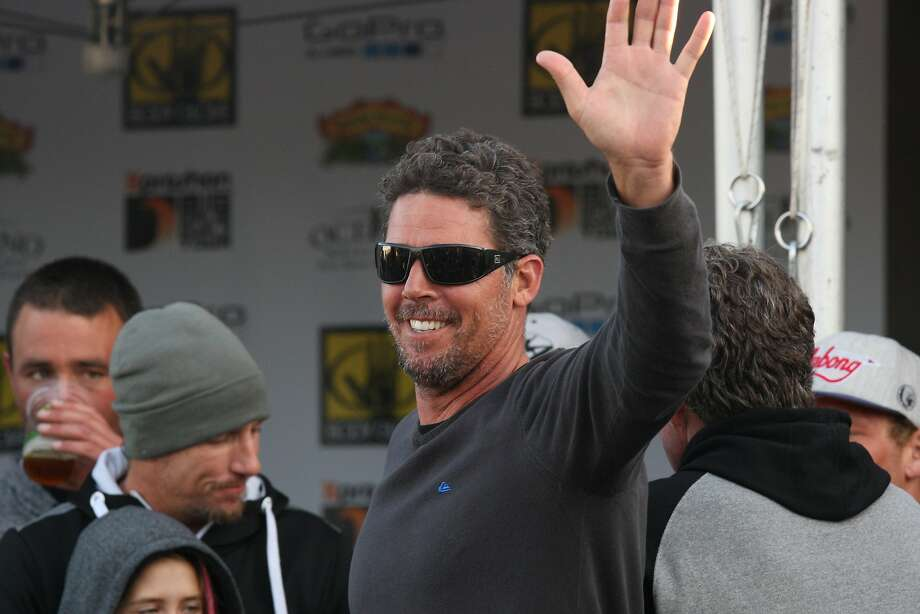Peter Mel greets spectators at the Mavericks Invitational Big Wave Surfing Contest Festival in Half Moon Bay, Calif. on Friday, Jan 24, 2014. Photo: Andre Zandona, The Chronicle
