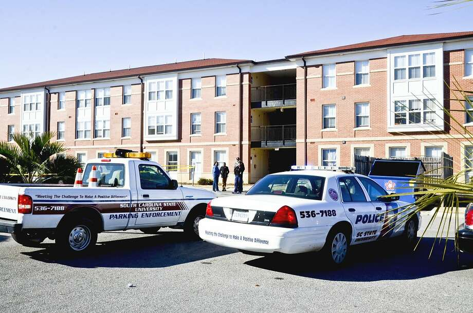 Hugine Suites dormitory is the site of a fatal shooting Friday at South Carolina State University. Photo: Associated Press