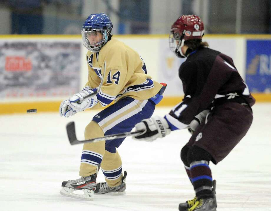 Photos from Newtown's 3-1 win over Brookfield/Bethel/Danbury in the high school hockey game at Danbury Arena in Danbury, Conn. on Saturday, Jan. 25, 2014. Photo: Tyler Sizemore / The News-Times