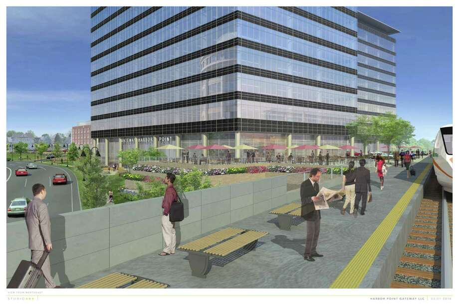 An architectural rendering of the proposed office buildings at Gateway Harbor Point. Photo: Contributed Photo, ST / Stamford Advocate Contributed
