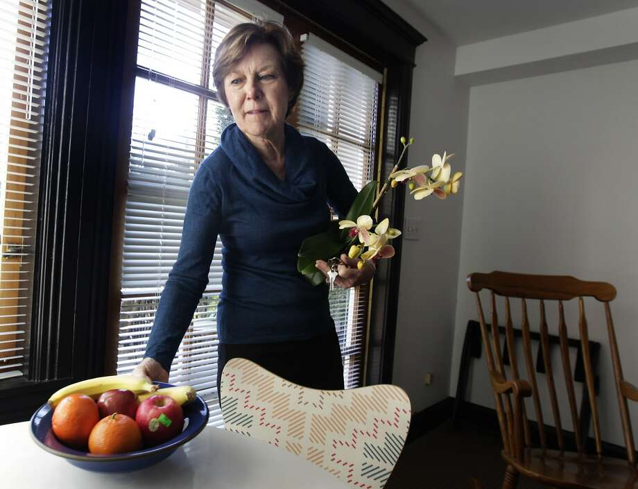 Lorraine Rorke Bader makes about $2,000 a month renting a private room in her San Francisco Victorian through Airbnb. Photo: Paul Chinn, The Chronicle