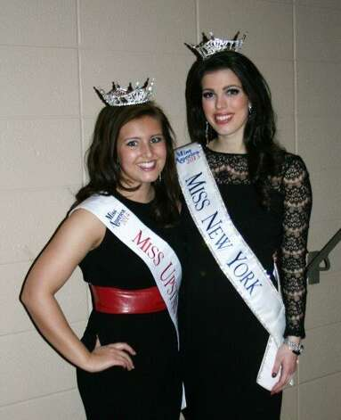 Madison Manuel recently won the title of the Miss Upstate New York with the Miss America Organization. Here she is with the current Miss New York, Amanda Mason. (Submitted photo)