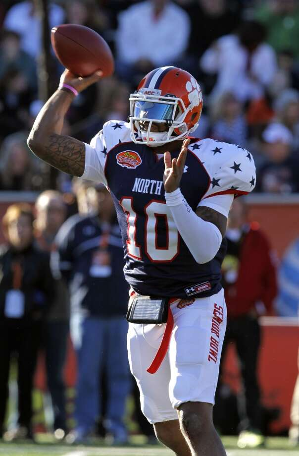 North quarterback Tajh Boyd, of Clemson, throws a pass. Photo: Butch Dill, Associated Press