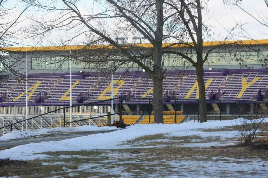 Bob Ford Field is pictured Thursday, Jan. 9, 2014, at the University of Albany in Albany, N.Y. UAlbany officials already are beginning to discuss expanding the 8,500-seat football and soccer stadium's capacity to 24,000 and building locker rooms adjacent to the field, among other improvements. (Michael P. Farrell/Times Union) Photo: Michael P. Farrell / 00025289A
