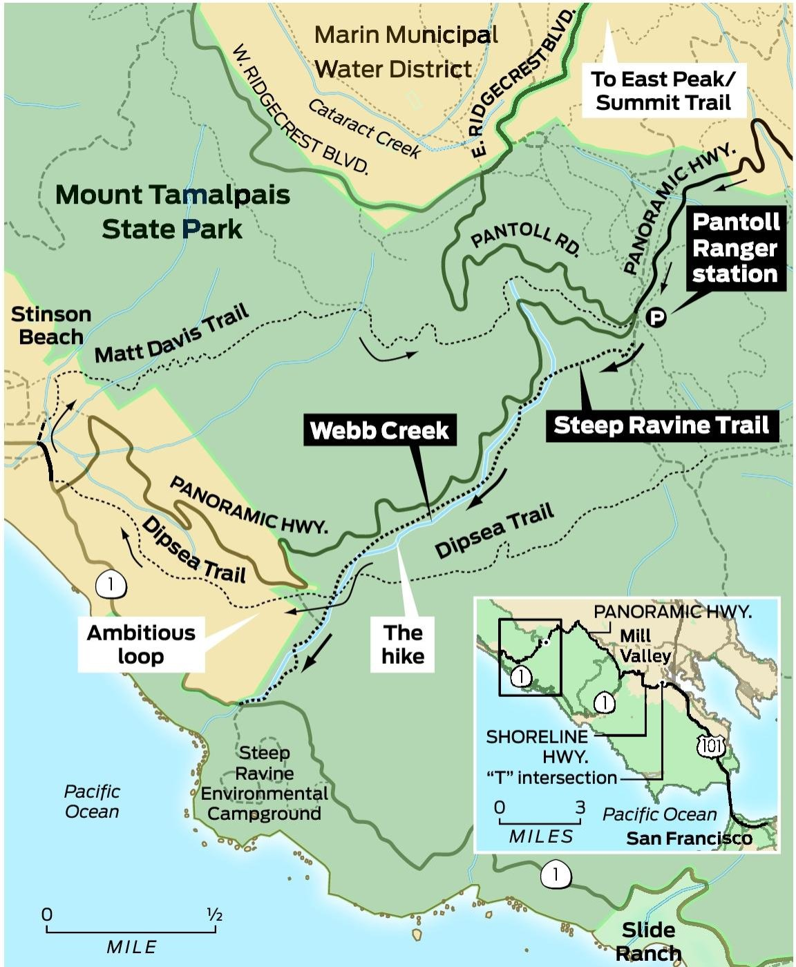Sunday drive: Marin County's Steep Ravine - SFGate on