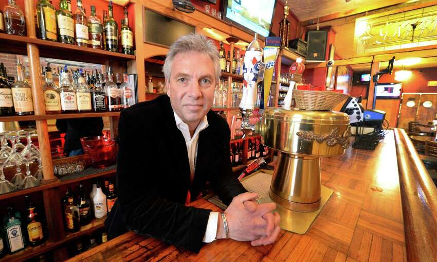 John Baker in the bar area of Gaffney's Wednesday morning Jan. 22, 2014 in Saratoga, N.Y. Baker spoke to the Times Union about his concerns with the casino placement by the Governor. (Skip Dickstein / Times Union)