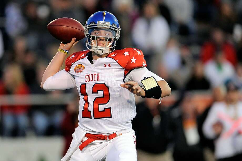 San Jose State's David Fales was 6-for-7 passing at the Senior Bowl. Photo: Stacy Revere, Getty Images