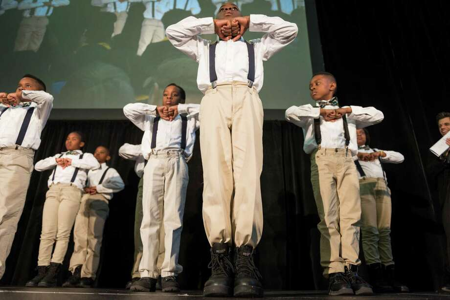 Students from KIPP ZENITH Academy perform during the Official Kickoff of National School Choice Week.  ( Smiley N. Pool / Houston Chronicle ) Photo: Smiley N. Pool, Houston Chronicle / © 2014  Smiley N. Pool