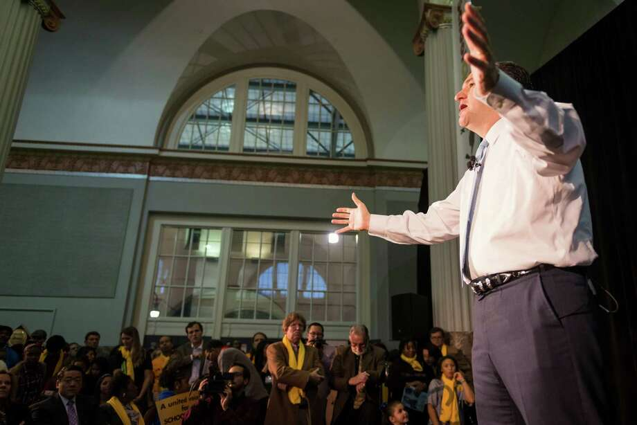 US Sen. Ted Cruz addressed the crowd during the Official Kickoff of National School Choice Week. ( Smiley N. Pool / Houston Chronicle ) Photo: Smiley N. Pool, Houston Chronicle / © 2014  Smiley N. Pool