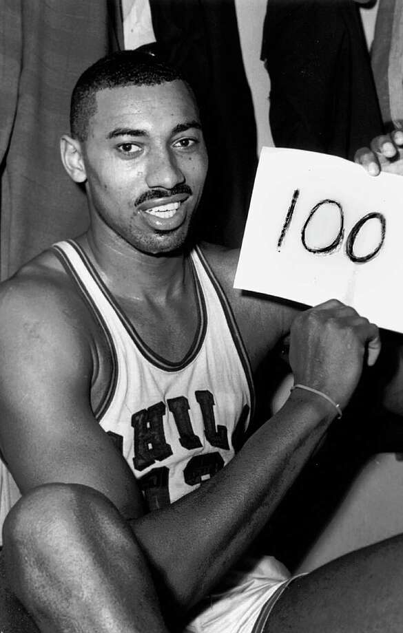 Big man Wilt Chamberlain had a stretch in 1962 that included the NBA single-game record of 100 points. Photo: Paul Vathis / Associated Press / AP
