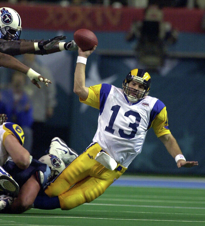 Super Bowl XXXIV. Jan.30. 2000. Atlanta, Ga. (indoors) Temperature: 72 degrees. St. Louis Rams 23, Tennessee Titans 16 / 2000 AP
