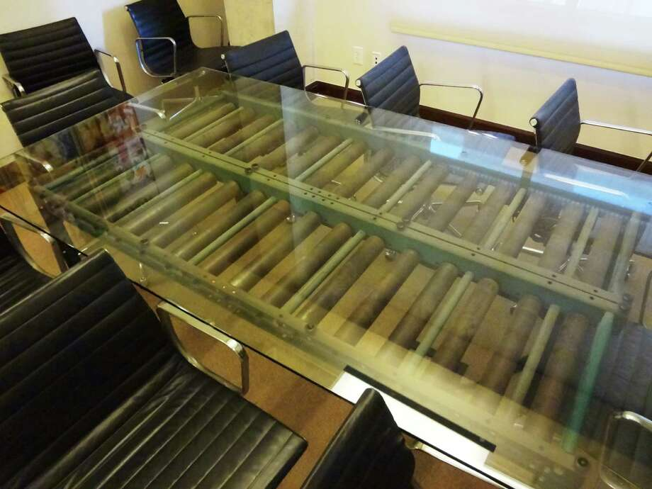 From conveyor belt to conference table in Pearl's administrative offices. Photo: Photo By Steve Bennett