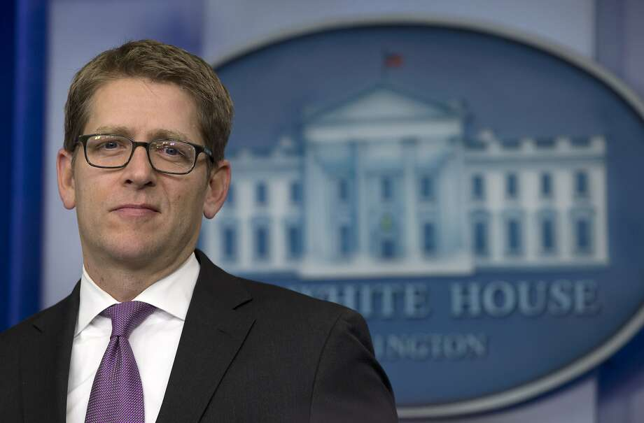 Press secretary Jay Carney discussed the president's strategy. Photo: Carolyn Kaster, Associated Press