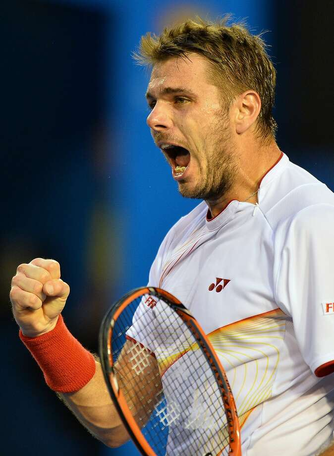 Stanislas Wawrinka beat Rafael Nadal in the Australian Open final. Photo: Saeed Khan, AFP/Getty Images