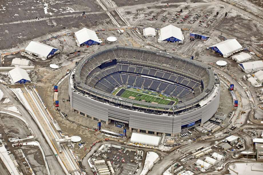 The Super Bowl will be the Seattle Seahawks' third time playing at MetLife Stadium in the past three seasons. Photo: LI-Aerials, Getty Images