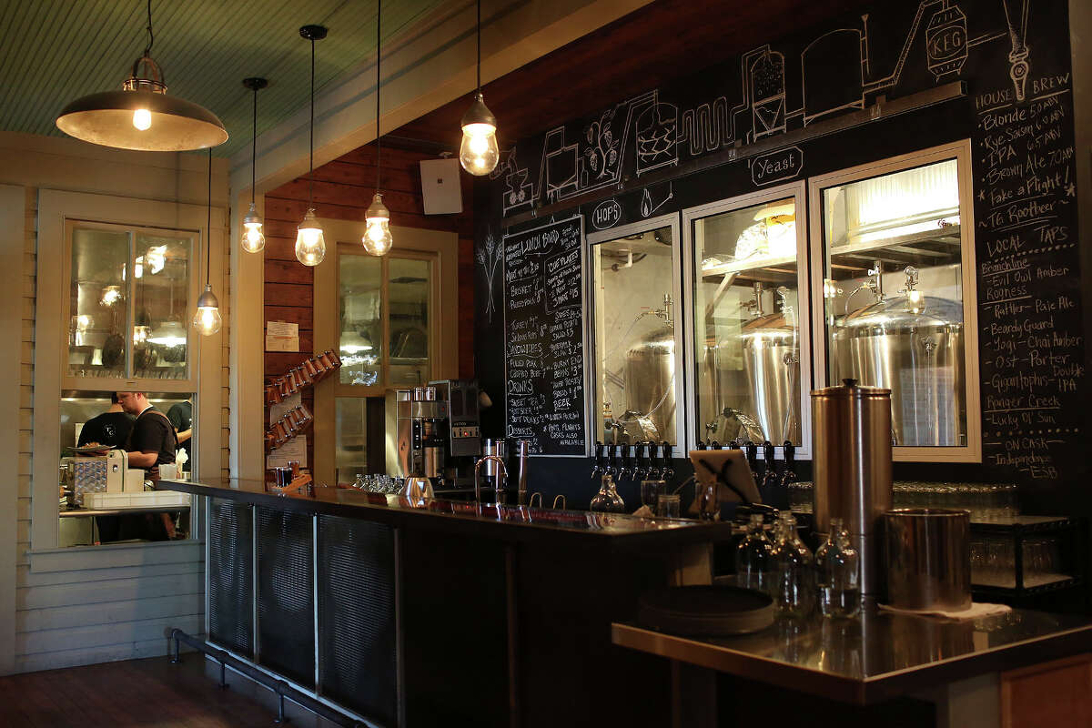 The bar at The Granary in the Pearl Brewery complex in San Antonio on Wednesday, Jan. 30, 2013.