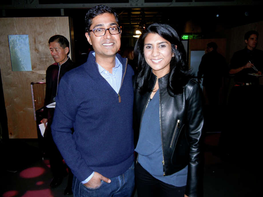"""Exploratorium Board member Ravin Agrawal and his wife, Alka Agrawal, at the Exploratorium's """"Science of Cocktails"""" fundraiser Photo: Catherine Bigelow"""