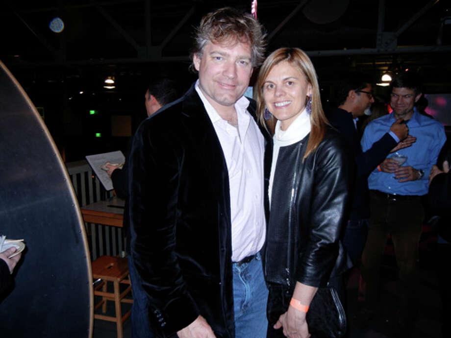 "Montgomery and Annie Woods at the Exploratorium's ""Science of Cocktails"" fundraiser Photo: Catherine Bigelow"
