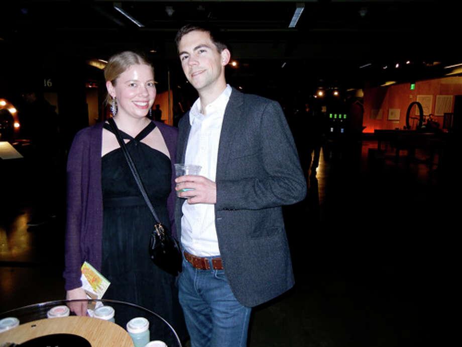"Kirsten Slungaard and Paul Mumma at the Exploratorium's ""Science of Cocktails"" fundraiser Photo: Catherine Bigelow"