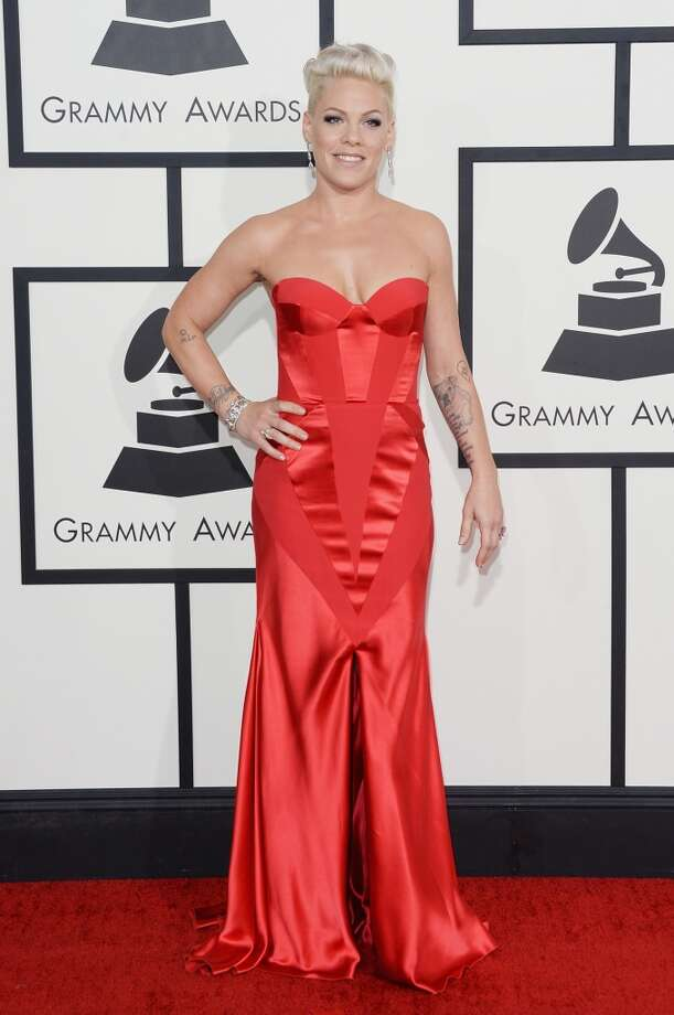 Singer Pink attends the 56th GRAMMY Awards at Staples Center on January 26, 2014 in Los Angeles, California. Photo: Jason Merritt, Getty Images