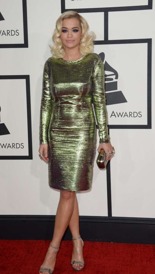 Rita Ora arrives on the red carpet for the 56th Grammy Awards at the Staples Center in Los Angeles, California, January 26, 2014. Photo: ROBYN BECK, AFP/Getty Images