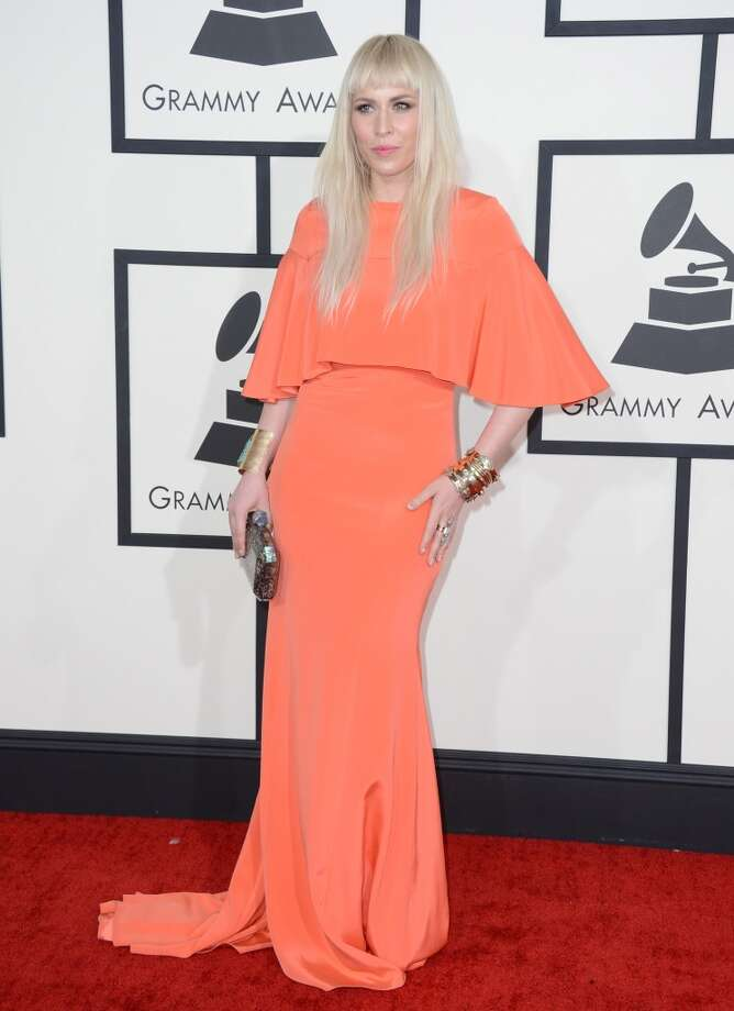 Natasha Bedingfield arrives at the 56th annual Grammy Awards at Staples Center on Sunday, Jan. 26, 2014, in Los Angeles. Photo: Jordan Strauss, Associated Press