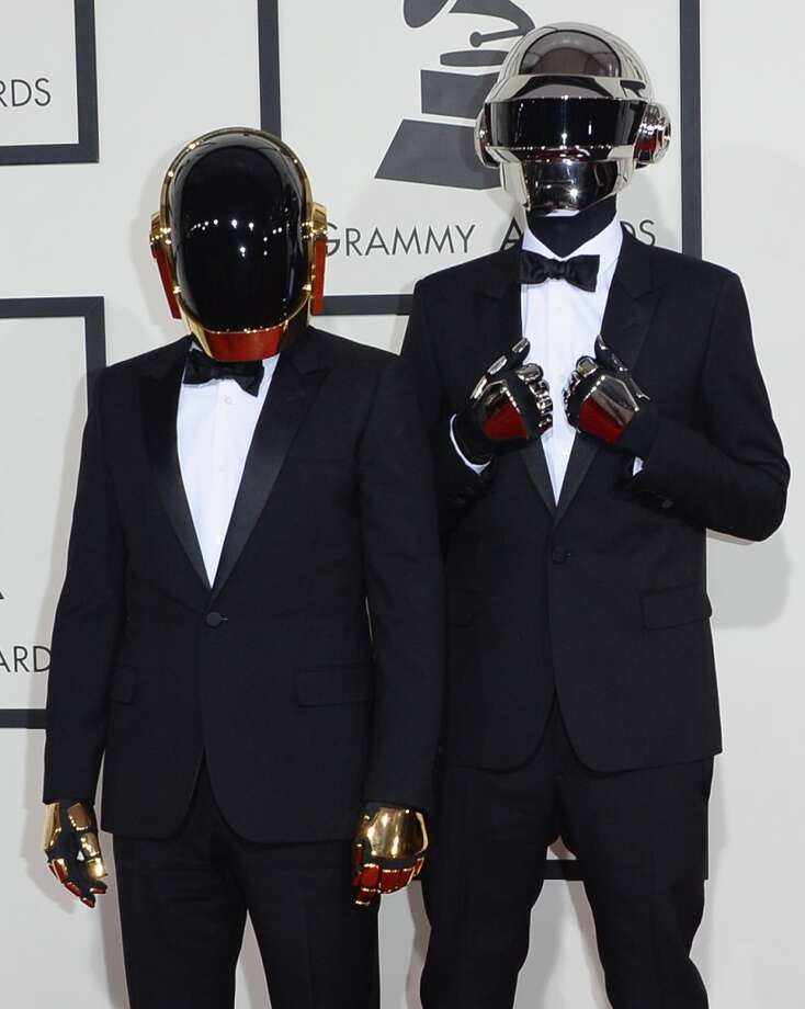 Guy-Manuel de Homem-Christo (L) and Thomas Bangalter of Daft Punk attend the 56th GRAMMY Awards at Staples Center on January 26, 2014 in Los Angeles, California. Photo: Jason Merritt, Getty Images