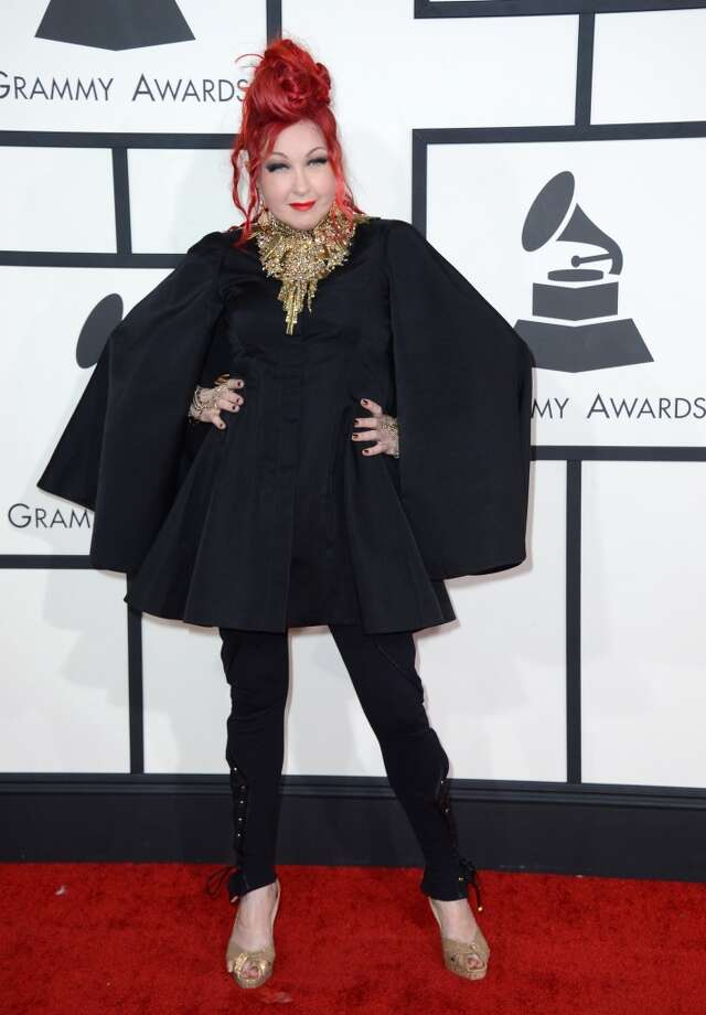 Cyndi Lauper arrives at the 56th annual Grammy Awards at Staples Center on Sunday, Jan. 26, 2014, in Los Angeles. Photo: Jordan Strauss, Associated Press