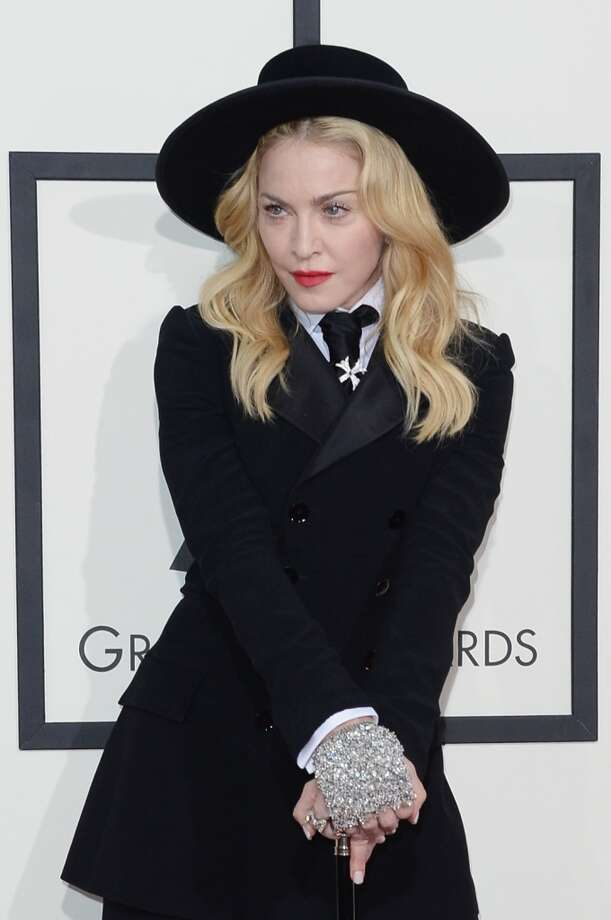 Singer Madonna attends the 56th GRAMMY Awards at Staples Center on January 26, 2014 in Los Angeles, California. Photo: Jason Merritt, Getty Images