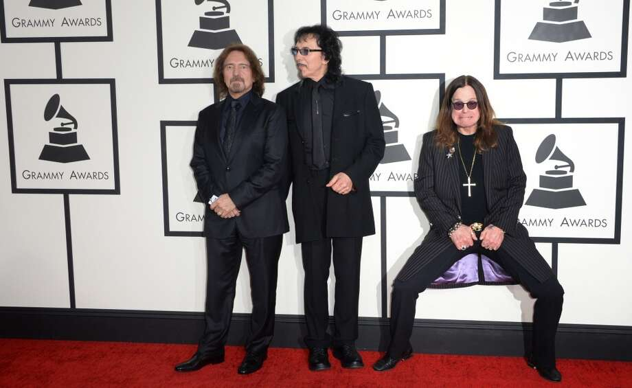 Members of the group Black Sabbath arrive on the red carpet for the 56th Grammy Awards at the Staples Center in Los Angeles, California, January 26, 2014. Photo: ROBYN BECK, AFP/Getty Images