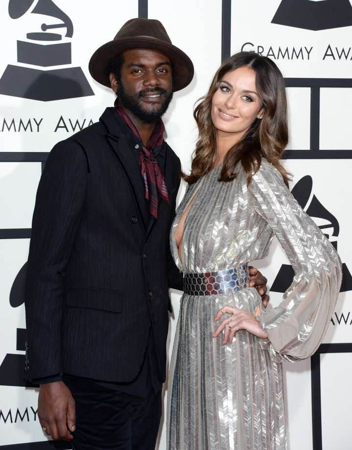 Musician Gary Clark Jr. and Nicole Trunfio attend the 56th GRAMMY Awards at Staples Center on January 26, 2014 in Los Angeles, California. Photo: Jason Merritt, Getty Images