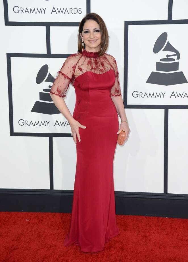 Gloria Estefan arrives at the 56th annual Grammy Awards at Staples Center on Sunday, Jan. 26, 2014, in Los Angeles. Photo: Jordan Strauss, Associated Press