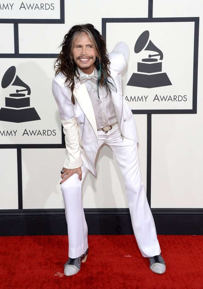 Singer Steven Tyler attends the 56th GRAMMY Awards at Staples Center on January 26, 2014 in Los Angeles, California. Photo: Jason Merritt, Getty Images